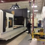 Side View of 13' CNC Gantry Vertical Milling Machining center
